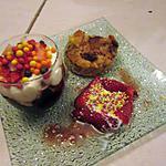 recette assiette fraises idée de    sacha   verrine a  la créme de cassis  et chantilly au wasabi   et recette de pain perdu trouve  ds le blog  faim de loup   gourmand