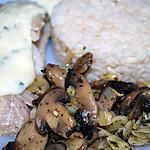 recette filet de cabillaud aux amandes et champignons