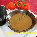 recette Soupe aubergines et tomates