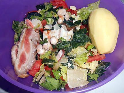 Soupe paysanne (a minestra) et ravioli au brocciu 430