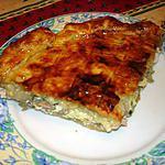 recette Tourte fine au jambon,comté et champignons