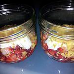 recette verrine tarte à la fraise