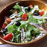 recette Salade aux anchois olives et tomates cerise
