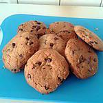 recette Cookies au pépites de chocolat et son coeur de nutella