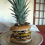 recette Burger des iles au poulet mariné épicé