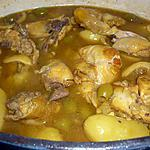 Tajine poulet/citrons/Ps de terre/olives