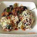 recette Gratin courgette aubergine