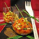 recette Verrines carottes-pommes, vinaigrette au miel et au curry