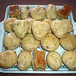 recette Bouchées salées girolles/ raclette à l'oignon