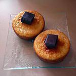 recette Petits cakes coeurs chocolat au caramel