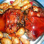 recette Jarret de porc au banyuls et ses petites pommes de terre