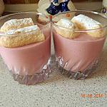 recette Crème aux framboises