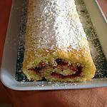 recette gâteau roulé à la fraise
