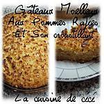 recette gâteaux moelleux aux pommes râpées et son croustillant de noix de coco et amandes.