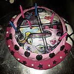recette gâteau d'anniversaire MONSTER HIGH