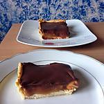 recette Tarte chocolat, caramel et cacahuètes façon snickers