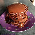 recette Pancakes au chocolat, sauce chocolat