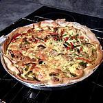 recette Quiche au poulet, poivrons et gruyère