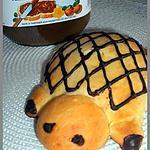 recette TORTUES BRIOCHÉES AU COEUR FONDANT NUTELLA
