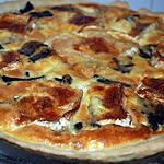 recette quiche aux champignons et chaource