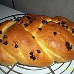 recette brioche tressée sans sucre saveur vanille et pepite