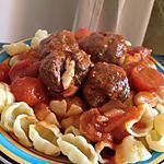 recette Pâtes aux Boulettes de bœuf cœur de Kiri