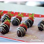 recette Fraise au chocolat