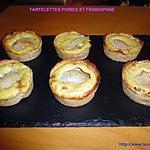 recette TARTELETTES POIRES ET FRANGIPANE