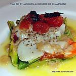 recette TIAN DE ST-JACQUES AU BEURRE DE CHAMPAGNE