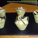 recette PANNA COTTA DE CREVETTES AU LAIT DE COCO