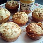 recette Muffins à la crème au caramel beurre salé et pralin