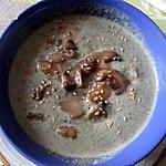 recette potage fanes de carottes  p de terre     champignons pétoncles sésame