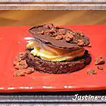 recette Croquant au chocolat à la crème pâtissière