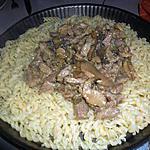 recette Porc en sauce strogonoff (sur la base d'une recette de Jeandemode)