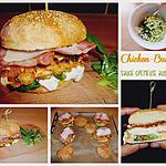 Le chicken burger sauce crémeuse aux herbes