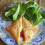 recette feuilletés au jambon et à la béchamel