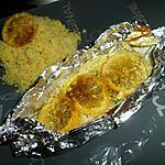 recette Papillotte de cabillaud au curry citroné
