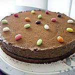 recette GATEAU A LA MOUSSE DE CHOCOLAT