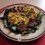 recette omelette ciboulette asperges    champignons;lard grillé