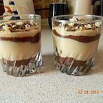 recette Crème dessert chocolat blanc et noir