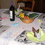 recette Idée de déco de table (lapin)