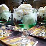 recette glaces chocolat / menthe au Get27 et chantilly