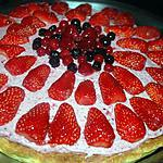 recette tarte chocolat blanc et mousses de fruits rouges