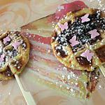 recette Sucettes de gauffres feuilleté au nutella