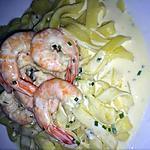 recette tagliatelles aux crevettes