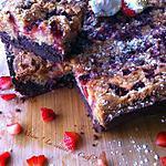recette Brookie chocolat-pistaches & chocolat blanc- fraises