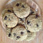 recette Délicieux Cookies aux flocons d'avoine et au chocolat.
