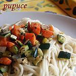 recette spaghettis aux petits légumes et basilic