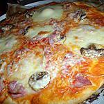 Pizza au jambon champignons mozzarella