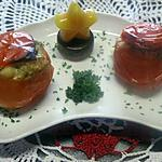 recette Tomates farcies au poisson. four.